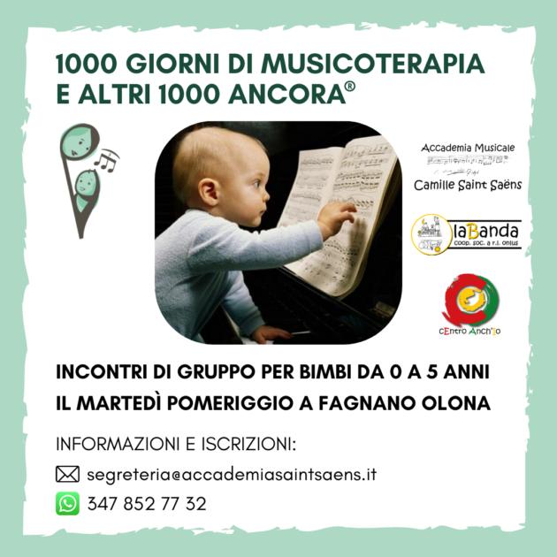 Musicoterapia neonatale 0-5 anni a Fagnano